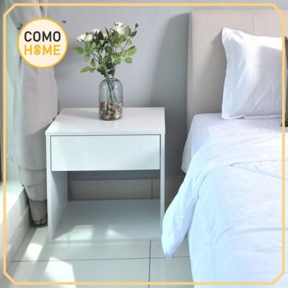 Bedroom Bedside Table with Drawer (Devon) Meja kecil Tepi Katil (Ready Stock)
