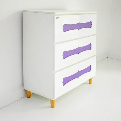 Como Home Chest Drawer 4 layer Children (1604) Laci Baju Kanak Drawer Cabinet Storage Bedroom (Included Installation)