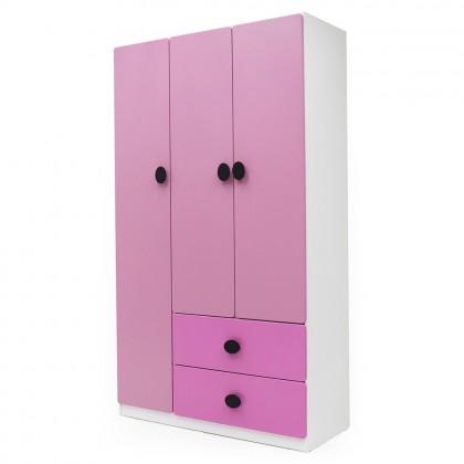 Como Home 3 Doors Wardrobe (Verona Pink) Children Wardrobe Alamari Baju Kanak (Included Installation)