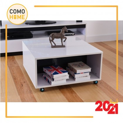 Como Home Coffee Table - UV White Furnishing (CT028) (Included Installation)