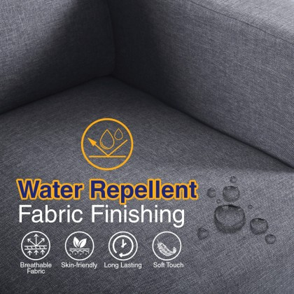 Como Home Erika 3 Seater Fabric Sofa (3158) | Water Repellent Fabric | Ready Stock (Our Logistic)