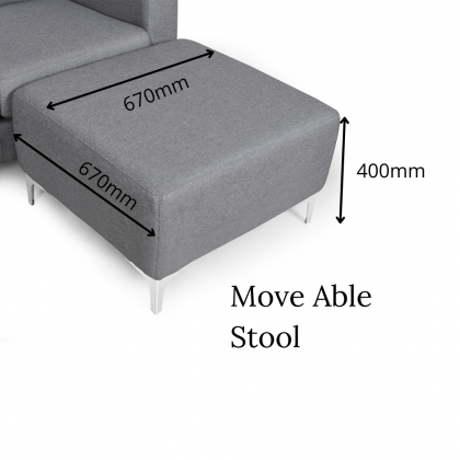 Como Home Modern L Shape Fabric Sofa / 3 Seater + Stool (M7077-V)   Water Repellent Fabric   Ready Stock (Own Logistic Delivery)