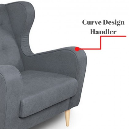 Como Home Cassie1+3 Seater Fabric Sofa (S3149)   Water Repellent Fabric   Ready Stock (Own Logistic Delivery)