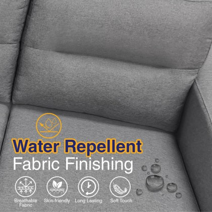 Como Home 2 Seater Fabric Sofa (M7075) Water Repellent Fabric   Ready Stock (Own Logistic Delivery)