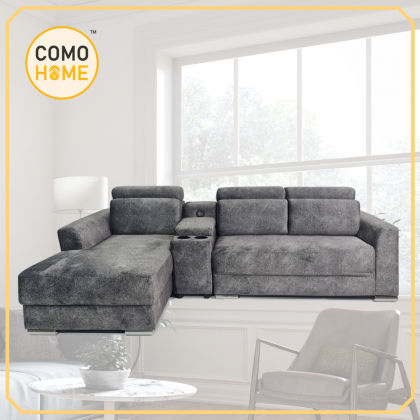 Como Home Modern L-Shape 3 Seater Fabric Sofa (M1293) | Ready Stock | Delivery by Own Logistic